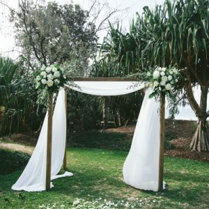 Timber 4 Poster Arbor – Includes Fabric Draping