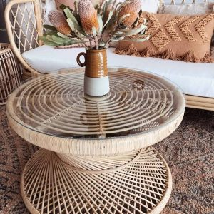 maya rattan coffee table