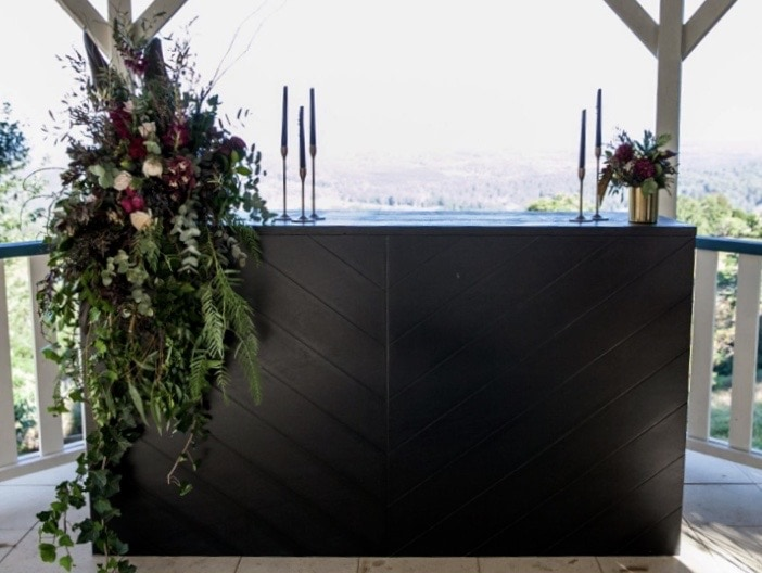 Simply Style Sunshine Coast Wedding and event hire - Black Herringbone Bar
