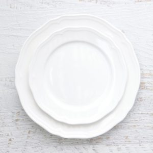 French Scalloped Plates