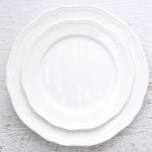 French Scalloped White Side Plate