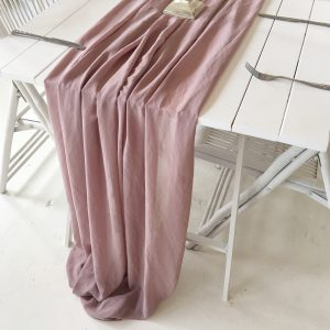 Gathered Table Runner (Antique Pink)