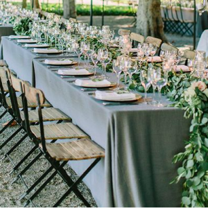 Charcoal Grey Table Linen