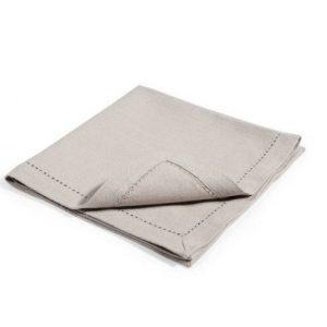 Napkin – Grey Hemstitch Cotton Blend