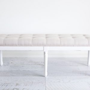White Buttoned Bench Seat