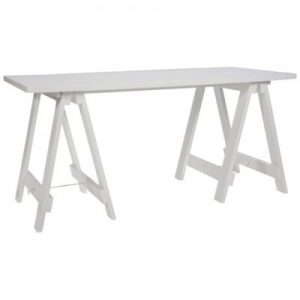 White Timber Trestle Table