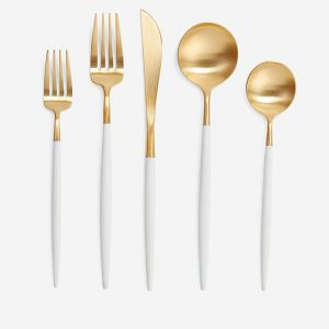 White & Gold Cutlery