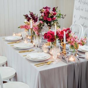 Gathered Table Runner (Light Grey)