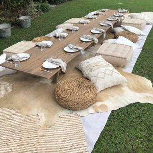 Low Timber Picnic Table