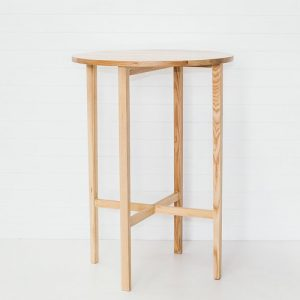 Oak High Bar Table