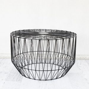 Black Geo Wire Table