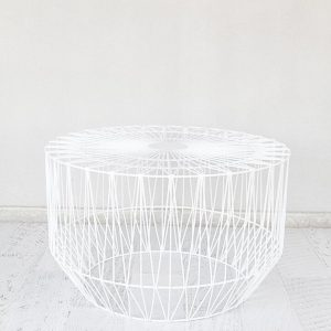 White Wire Geo Table