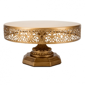 Gold Iron Cake Stand