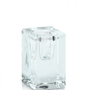 Candle Holder – Glass Cube Taper