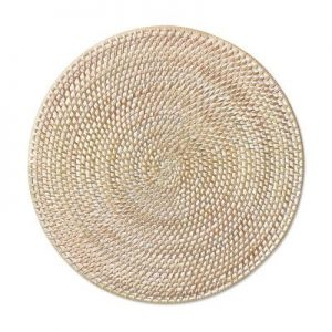 White Rattan Placemat