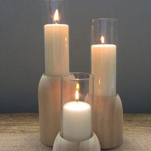 Candle – Timber Base Pillar