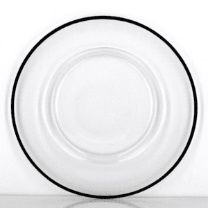 Black Rim Charger Plate