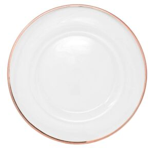 Rose Gold Rim Charger Plate