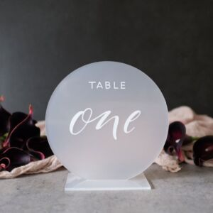 Table Number – Round Acrylic